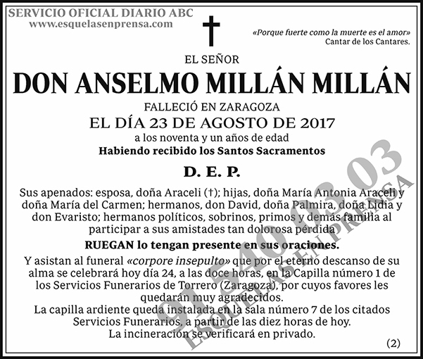 Anselmo Millán Millán